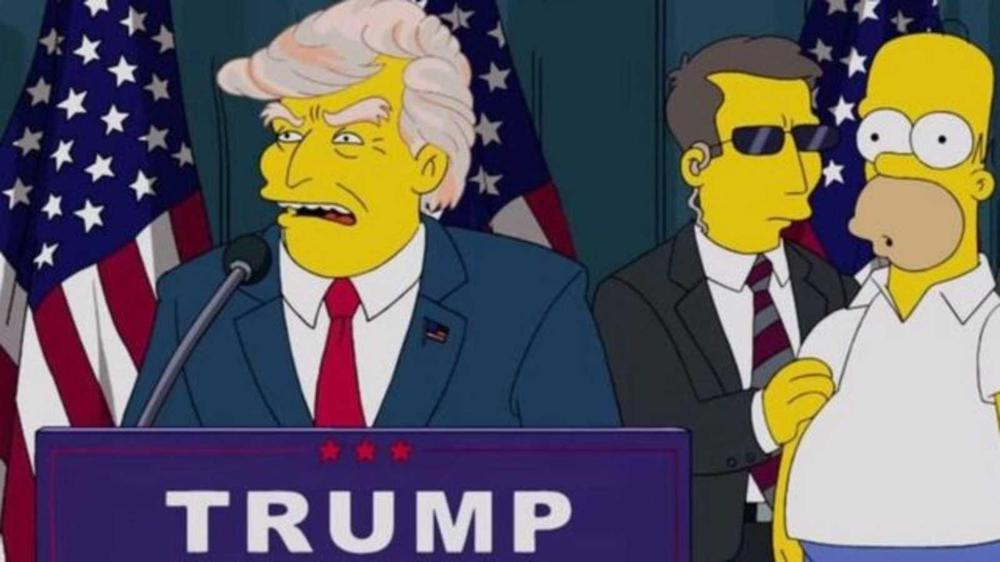 los simpsons trump